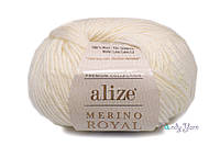 Alize  Merino Royal, Молочный №62