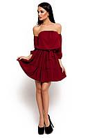 Жіноче літнє марсалове плаття Sharlin