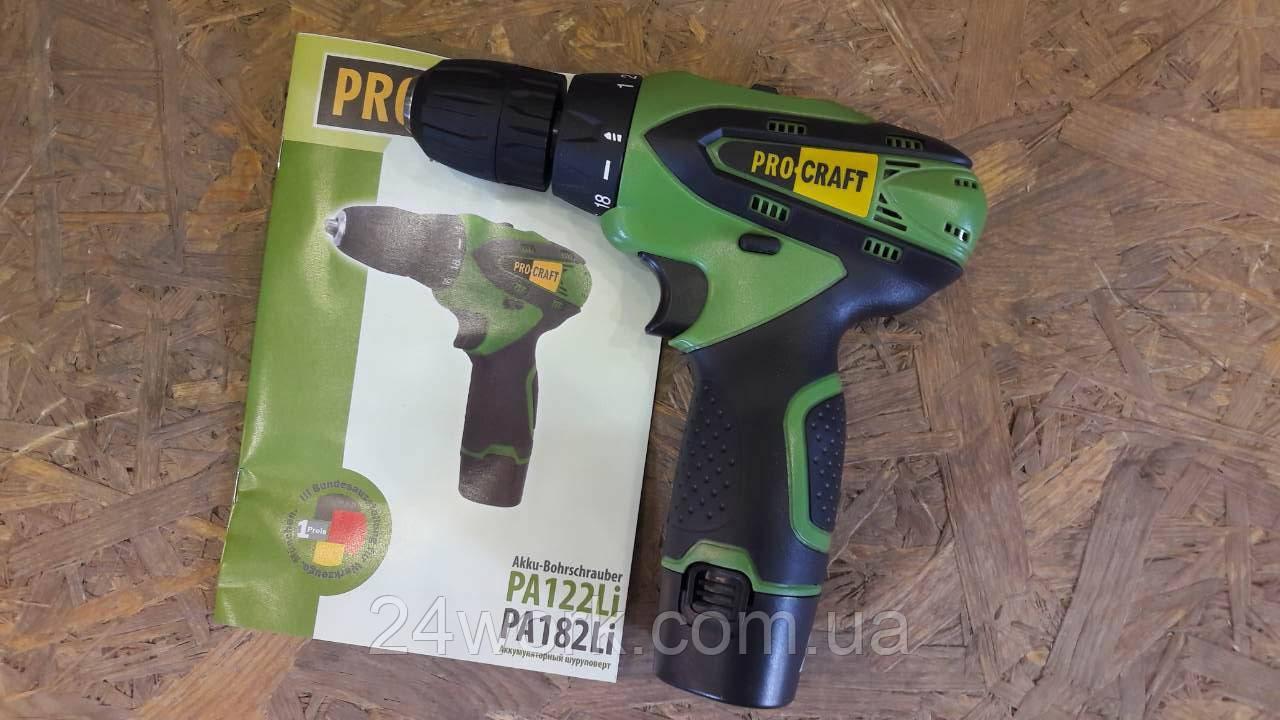 Шуруповерт аккумуляторный PROCRAFT PA-12/2 LI