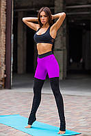 Спортивный комплект Yoga Tender Violet Black Net