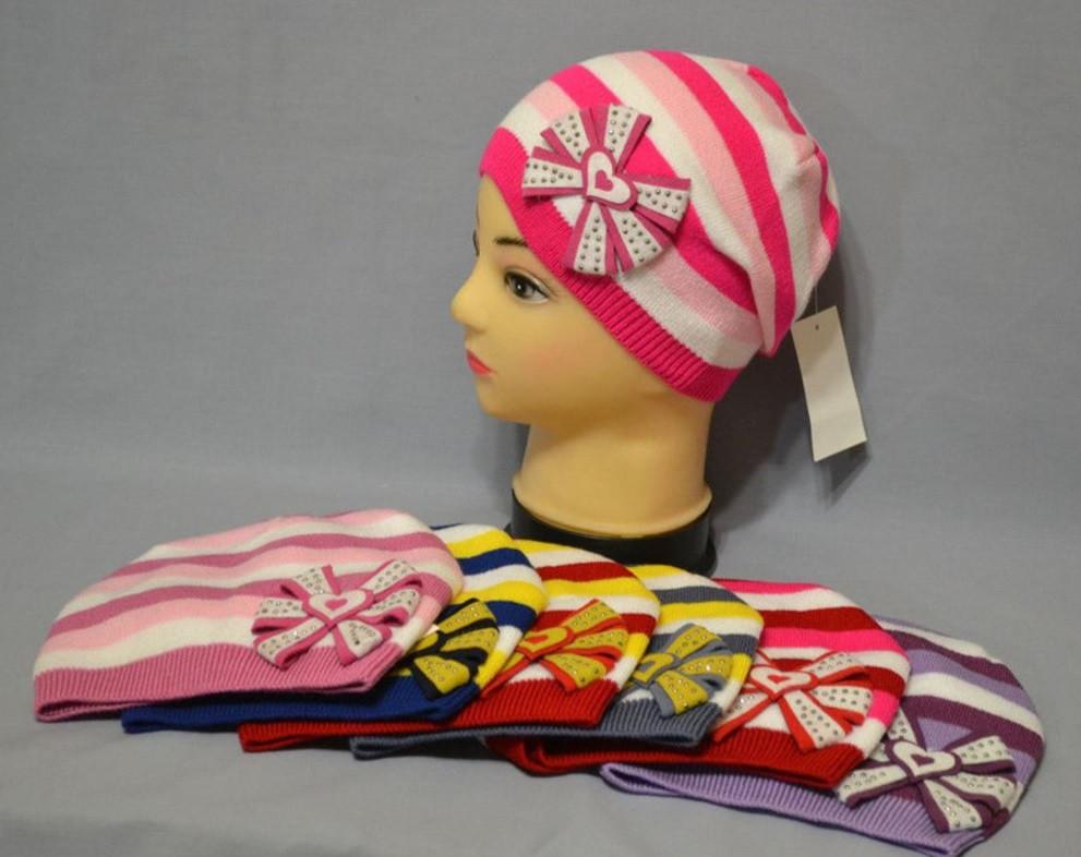 """Демисезонная шапка для девочек """"Шик"""""""