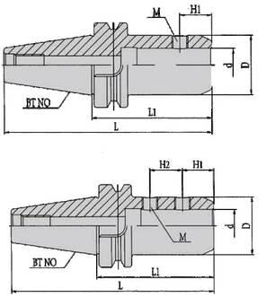 BT40-SLA16-65(MAS403)  Патрон, фото 2