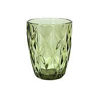 Стакан винтажный зеленый 250 мл (праздничные стаканы)