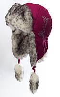 Шапка-ушанка Забава малиновый