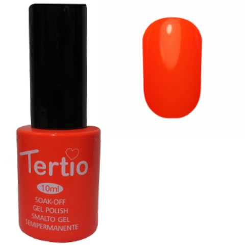 Гель-лак №016 (неоновый кислотно-оранжевый) 10 мл Tertio