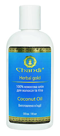 Натуральное кокосовое масло Chandi,100 мл, фото 2