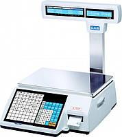 Весы с печатью этикетки CAS CL 5000J-IP/R-6