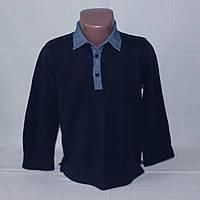 Реглан поло темно-синий с джинсовым воротником Coolclub р. 116