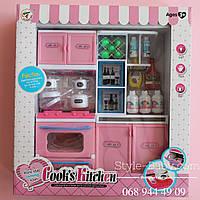 Мебель кухня с посудой звук, свет в коробке 30,5*33*9,5 см