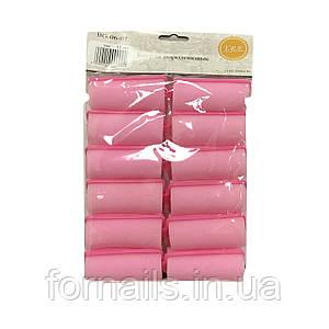 Бигуди поролоновые YRE, диаметр 38 мм, розовые