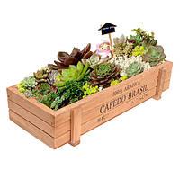 Деревянные ящики, кашпо для цветочных и подарочных композиций