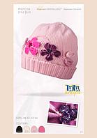 Шапка TuTu Unique c аппликацией цветы