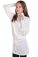 Вязаное платье для девочки Рута белый