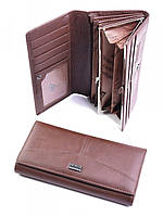 Красивый женский кошелек из кожи коричневый A0001-С