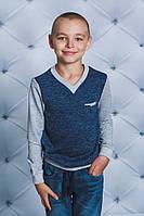 Пуловер для мальчика джинс