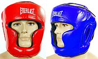 Шлем боксерский с полной защитой кожаный EVERLAST(р-р M-XL)