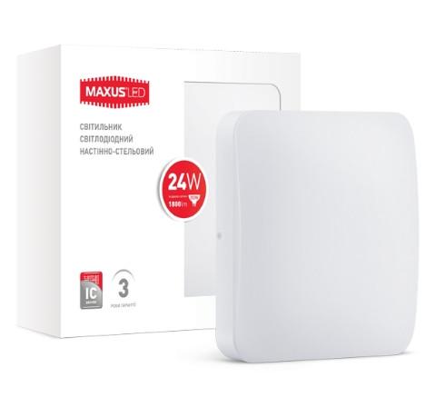 Светодиодный светильник MAXUS 24W нейтральный свет