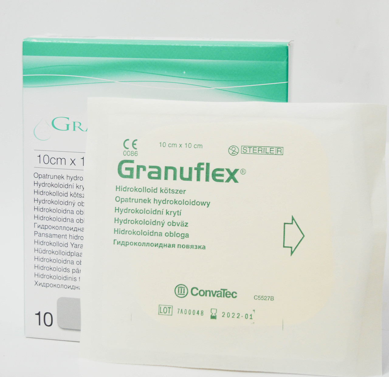 Повязка гидроколлоидная Грануфлекс (Granuflex) 10х10см
