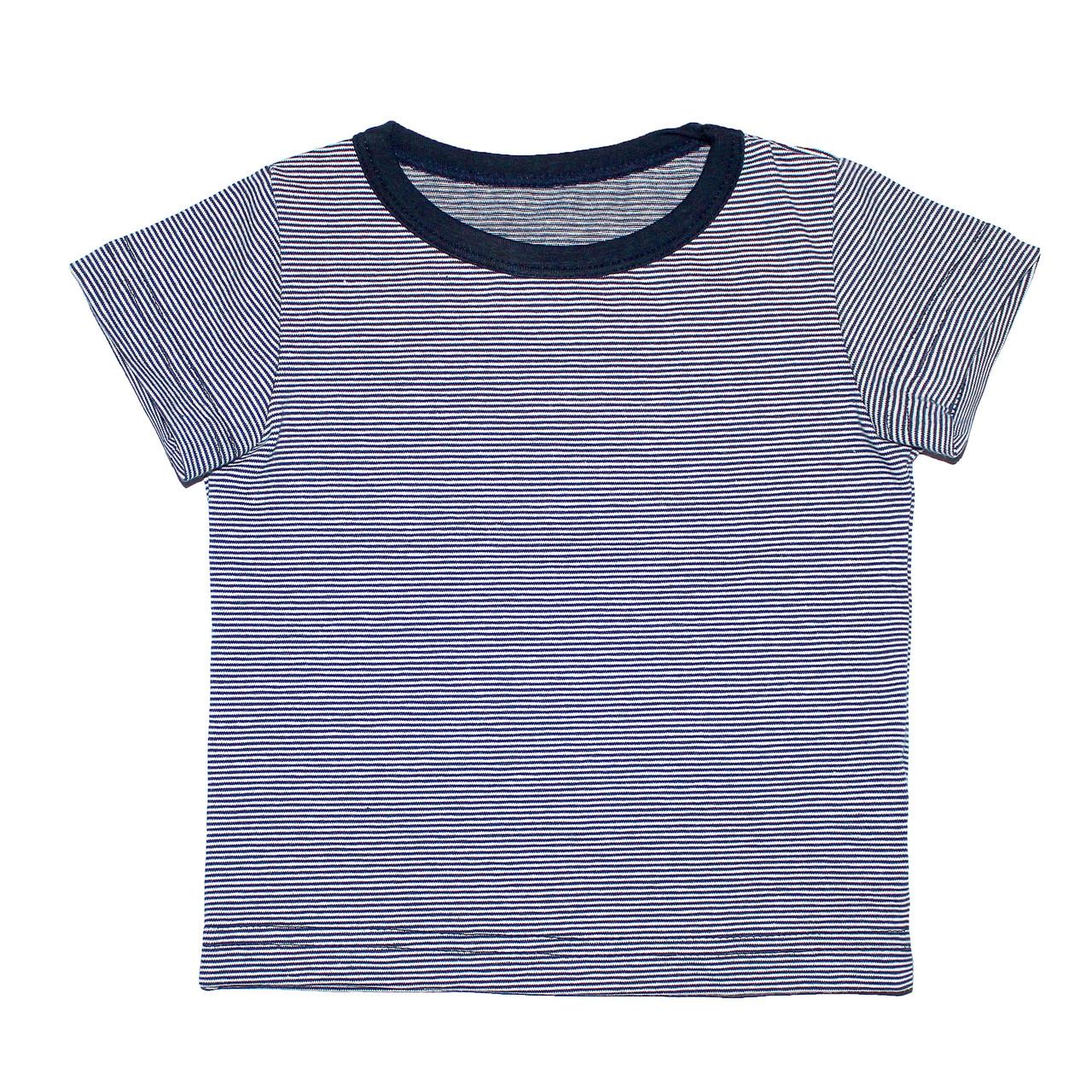 Дизайнерская футболка 6/12 мес. Andriana Kids с мелкими полосками