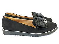 Туфли женские замшевые черные Sopra