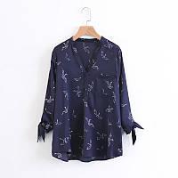 Темная блузка с рукавом три четверти, фото 1