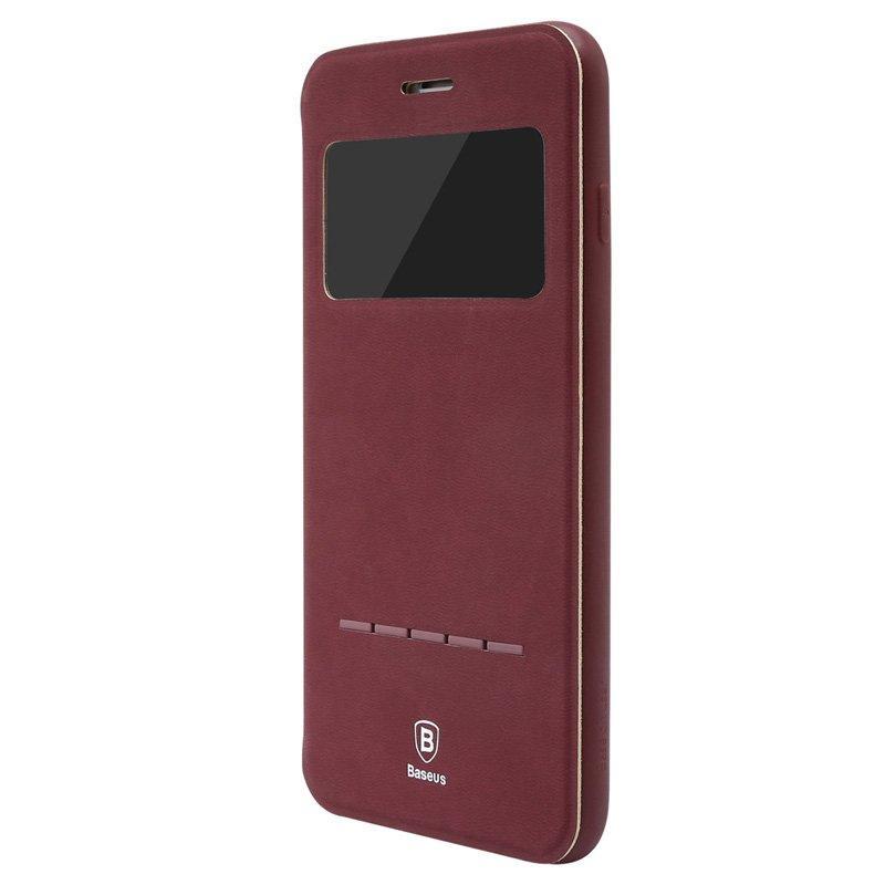 Чехол (книжка) с подставкой Baseus Simple красный для iPhone 7 Plus 8 plus