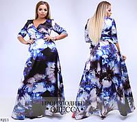 Платье атласное глубокий вырез в пол 50-52, 54-56, 58-60