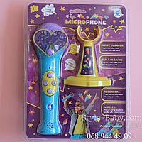 Детский микрофон на подставке запись коробка 20,5-27,5-7 см
