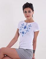 Вышитая женская футболка   Р-П-Д
