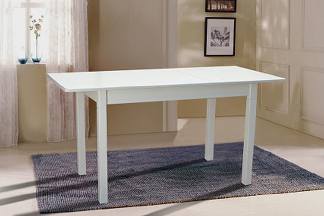 Стол кухонный деревянный Персей Микс мебель, цвет белый / ваниль
