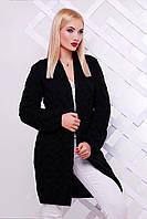 Вязаный черный кардиган LOLO ТМ FashionUp 42-52 размеры