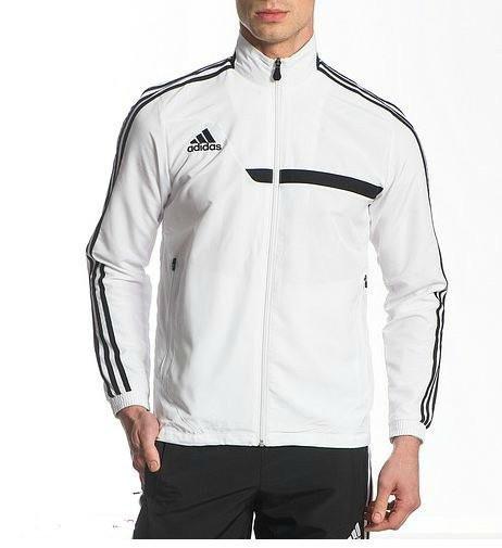 Спортивный костюм Adidas, белый верх черный низ R162