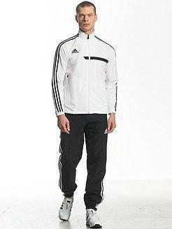 Спортивный костюм Adidas, белый верх, черный низ, с лампасами R161, фото 2