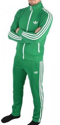 Спортивный костюм Adidas, зелёный костюм,с лампасами R178, фото 2