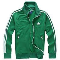 Зимний спортивный костюм, теплый костюм Adidas, зеленый костюм с лампасами R176