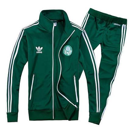 Спортивный костюм Adidas, зелёный костюм,с лампасами R179, фото 2
