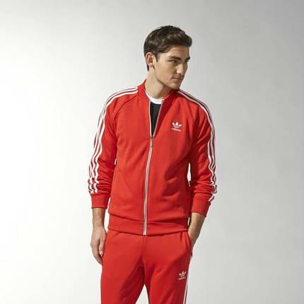 Спортивный костюм Adidas, красный костюм, с лампасами R187, фото 2