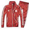 Спортивный костюм Adidas, красный костюм, с лампасами R186