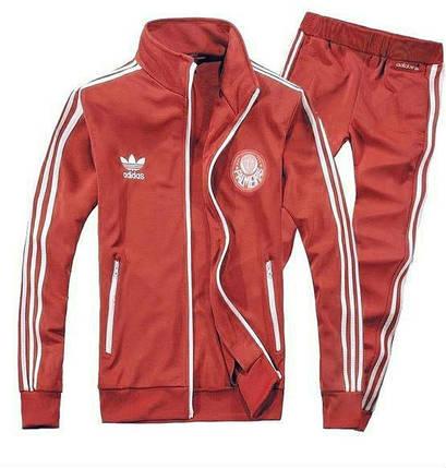 Спортивный костюм Adidas, красный костюм, с лампасами R186, фото 2