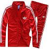 Спортивный костюм Adidas, красный костюм, с лампасами R190