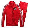 Спортивный костюм Adidas, красный костюм, с лампасами R195