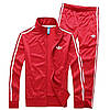 Спортивный костюм Adidas,красный кстюм,с лампасами, R192