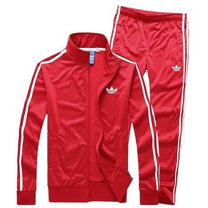 Спортивный костюм Adidas,красный кстюм,с лампасами, R192, фото 2