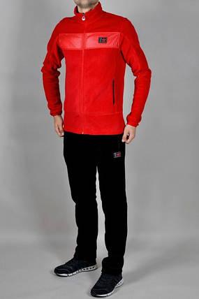 Спортивный костюм Adidas, красный верх, черный низ,  R200, фото 2