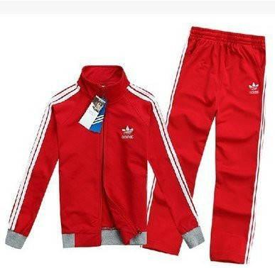 Спортивный костюм Adidas, красный костюм,с лампасами R202, фото 2