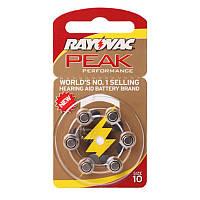 Батарейки для слуховых аппаратов Rayovac Peak Performance 10 MF, 6 шт.