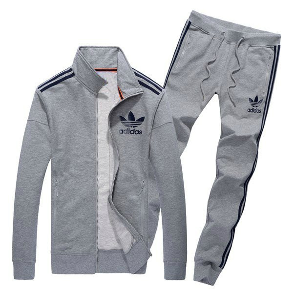 Спортивный костюм Adidas, серый костюм, с лампасами, R216