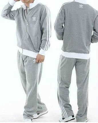 Спортивный костюм Adidas, серый костюм, с лампасами, R220, фото 2