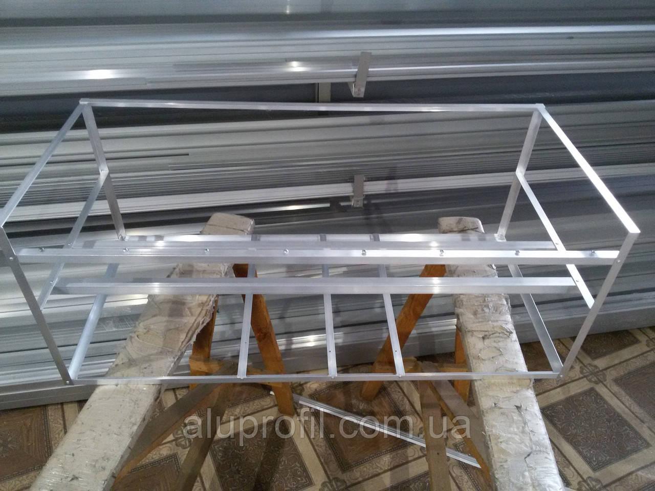 Алюминиевый профиль - каркас фермы для майнинга на 8 видеокарт (усиленный)