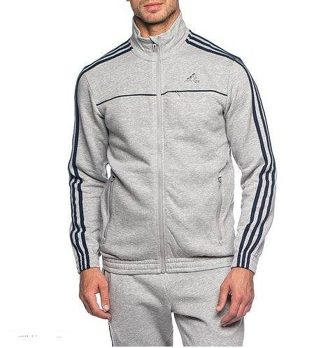 Спортивный костюм Adidas, серый костюм, с лампасами, R223